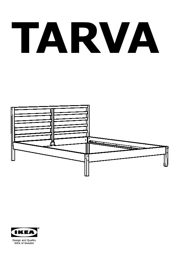 tarva structure lit avec pieds pin laxeby ikea france ikeapedia. Black Bedroom Furniture Sets. Home Design Ideas