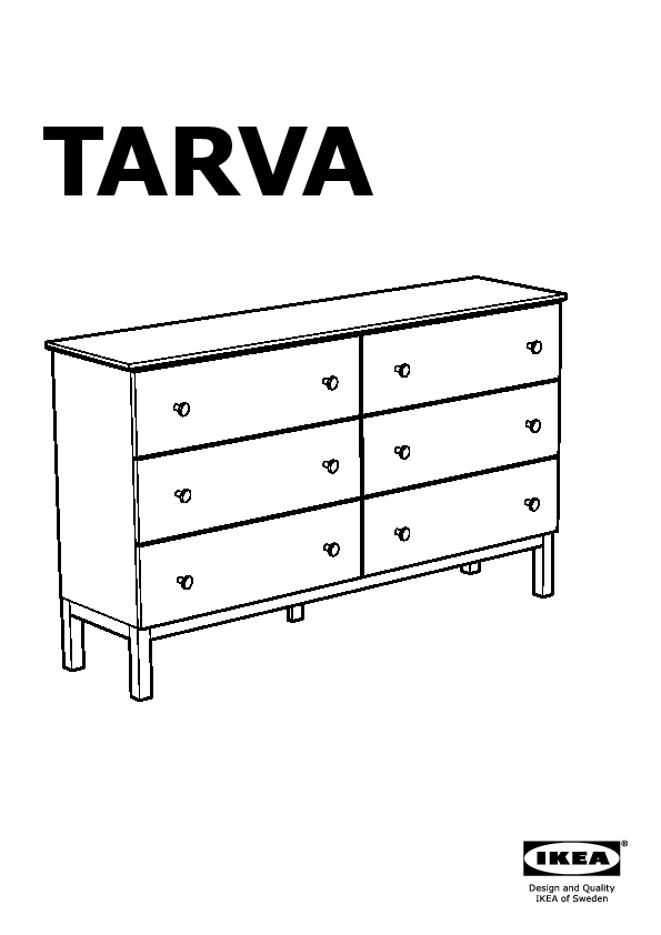 tarva commode 6 tiroirs pin ikea france ikeapedia. Black Bedroom Furniture Sets. Home Design Ideas