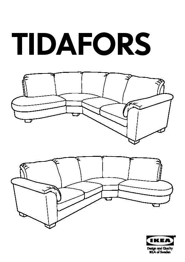 tidafors canap d 39 angle droit edsken gris fonc ikea france ikeapedia. Black Bedroom Furniture Sets. Home Design Ideas