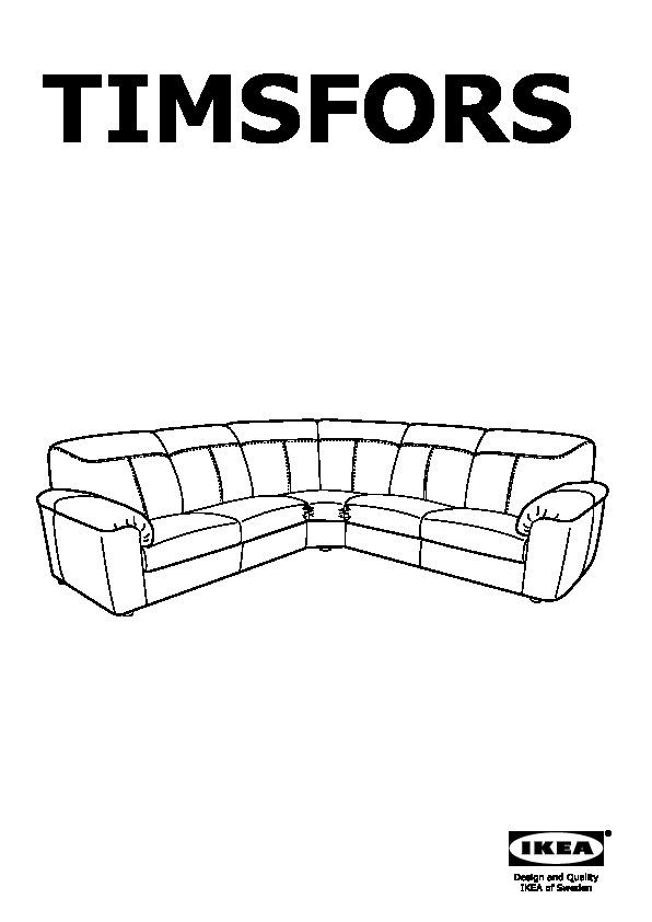 Ikea Divani In Pelle Angolari.Timsfors Divano Angolare 2 2 Mjuk Kimstad Nero Ikea Italy
