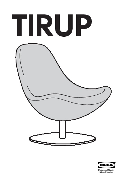 tirup fauteuil pivotant eldris noir blanc ikea france ikeapedia. Black Bedroom Furniture Sets. Home Design Ideas