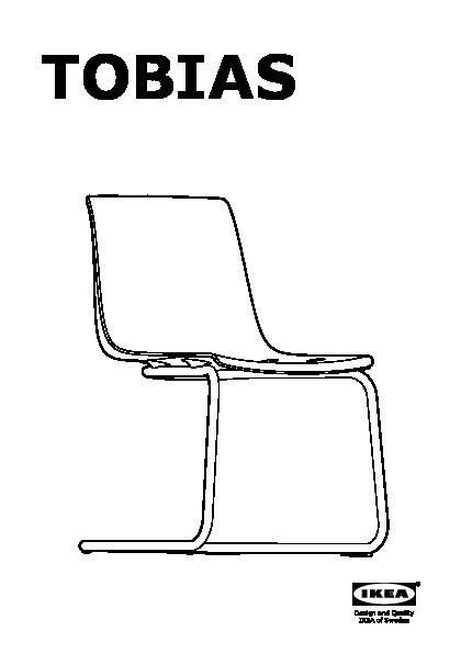 Glivarp tobias tavolo e 6 sedie trasparente trasparente - Sedia tobias ikea ...