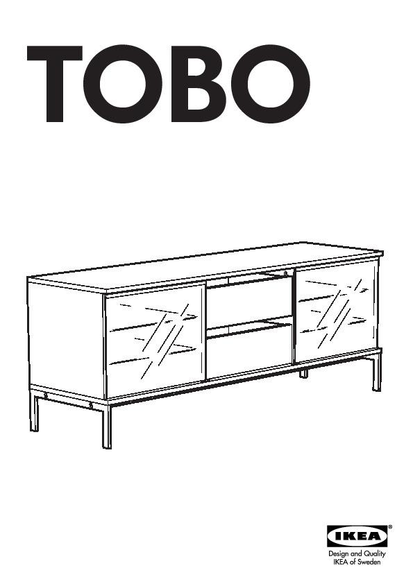 Banc Tv Ikea Noir : 20117674 – Tobo Banc Tv – Notice De Montage