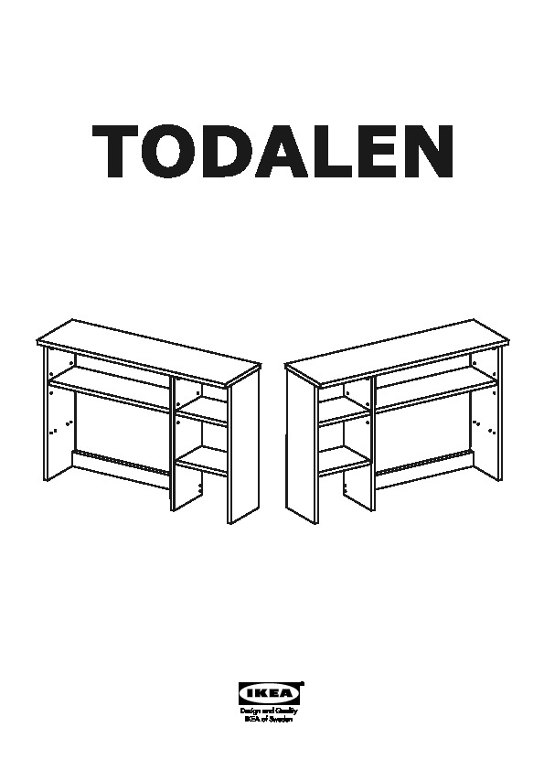 todalen bureau avec l ment compl mentaire gris brun ikea france ikeapedia. Black Bedroom Furniture Sets. Home Design Ideas