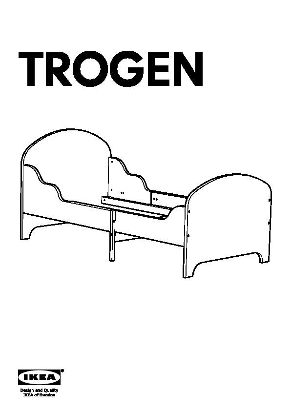 Trogen struttura letto allungabile e doghe grigio chiaro - Ikea letto allungabile trogen ...
