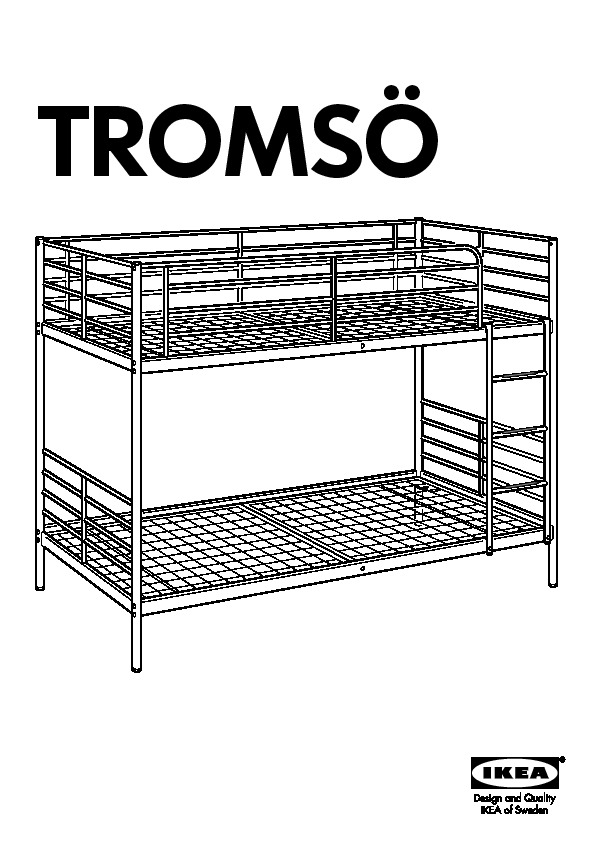 Troms 214 Bunk Bed Frame White Ikea United States Ikeapedia