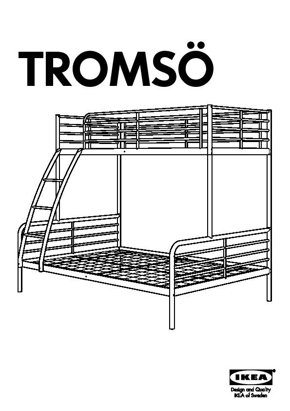 Tromso Bunk Bed Frame White Ikea United States Ikeapedia