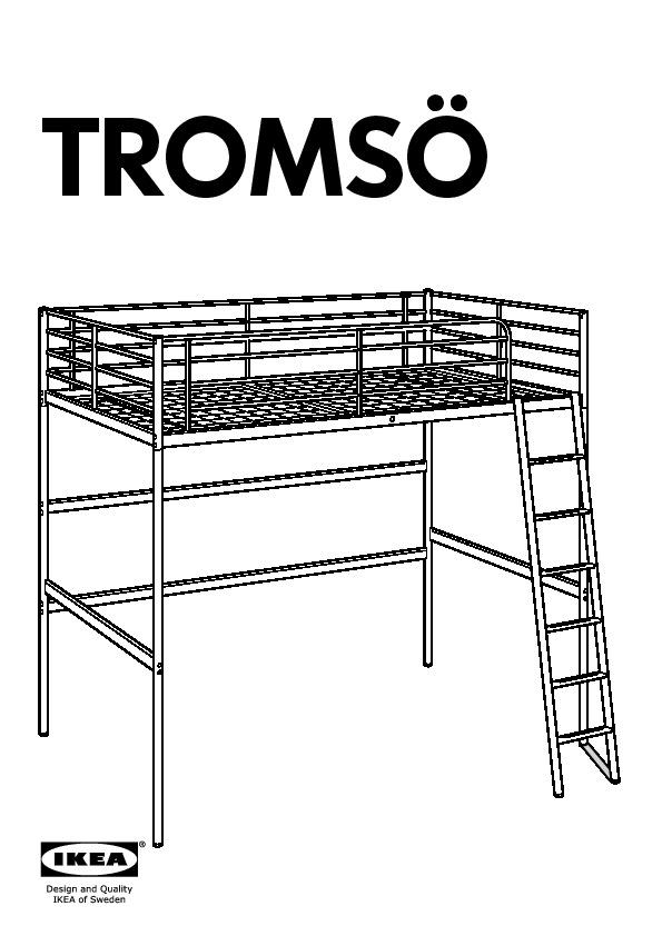 TROMSÖ Structure lit mezzanine+plateau blanc (IKEA Canada (French ...