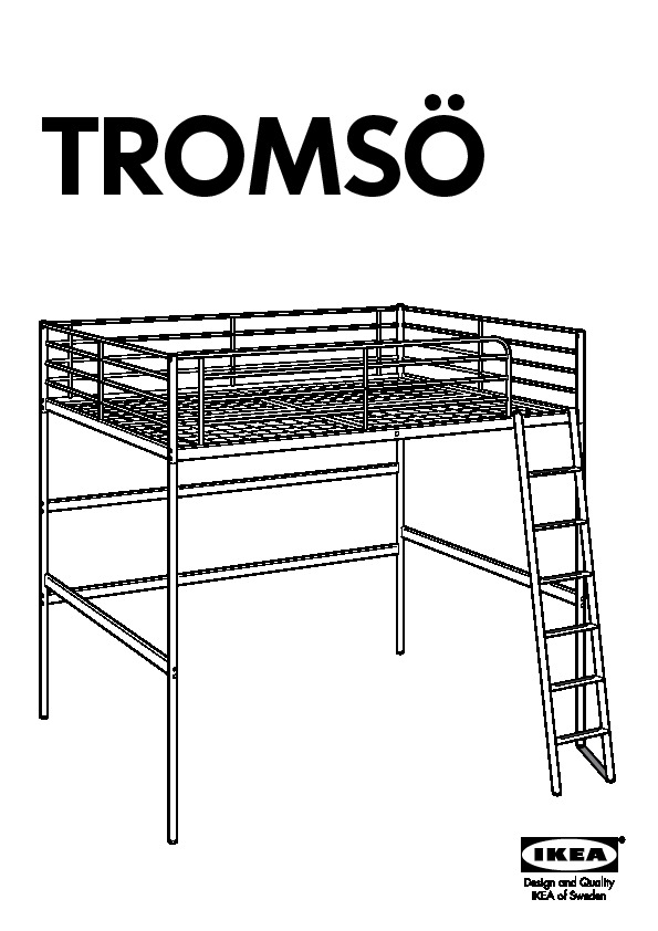 TROMSÖ Loft bed frame white (IKEA United States) - IKEAPEDIA