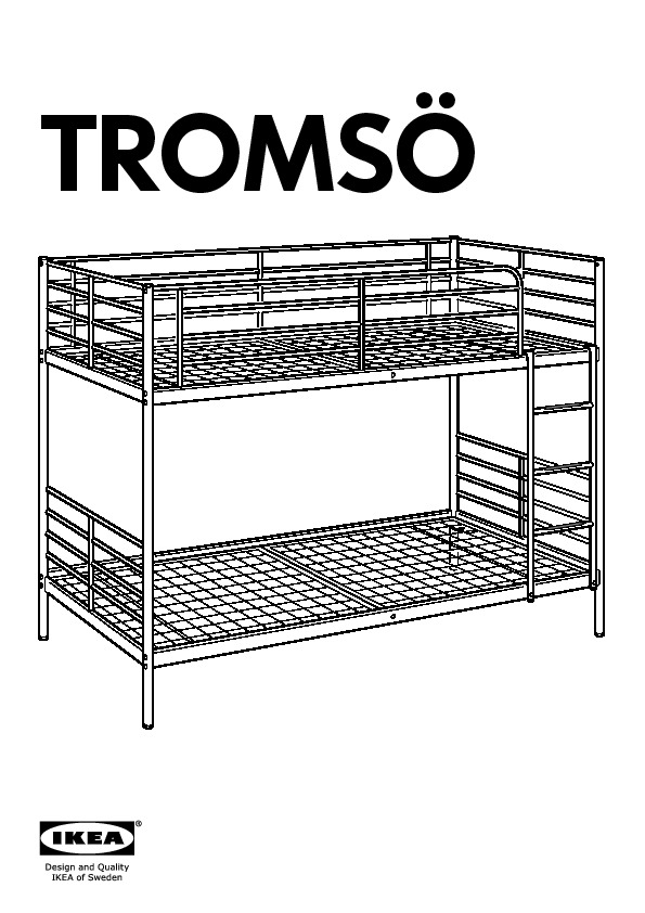 troms structure lits superpos s blanc ikea france ikeapedia. Black Bedroom Furniture Sets. Home Design Ideas