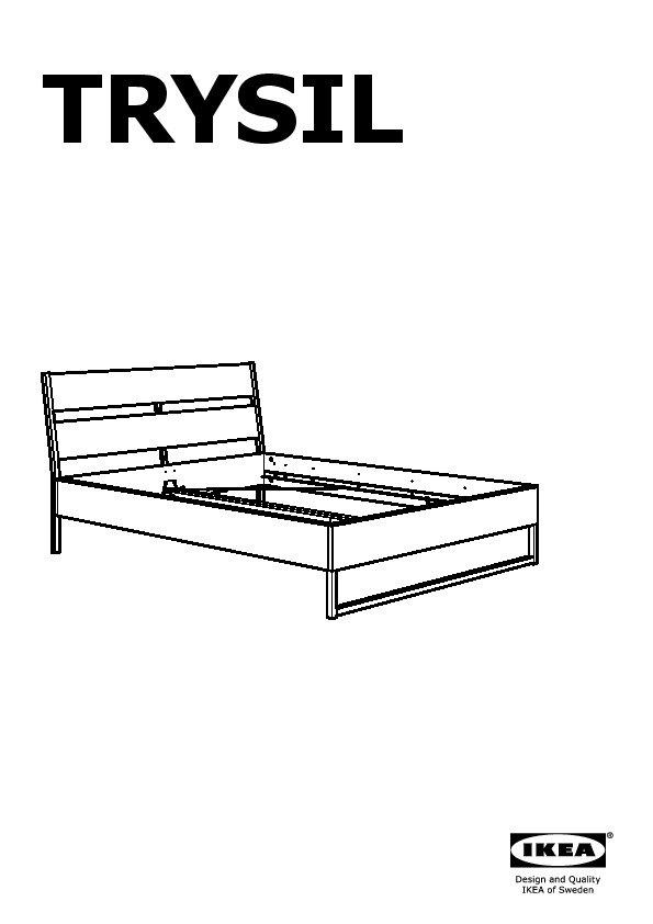 TRYSIL Bed frame white, Luröy (IKEA United Kingdom) - IKEAPEDIA