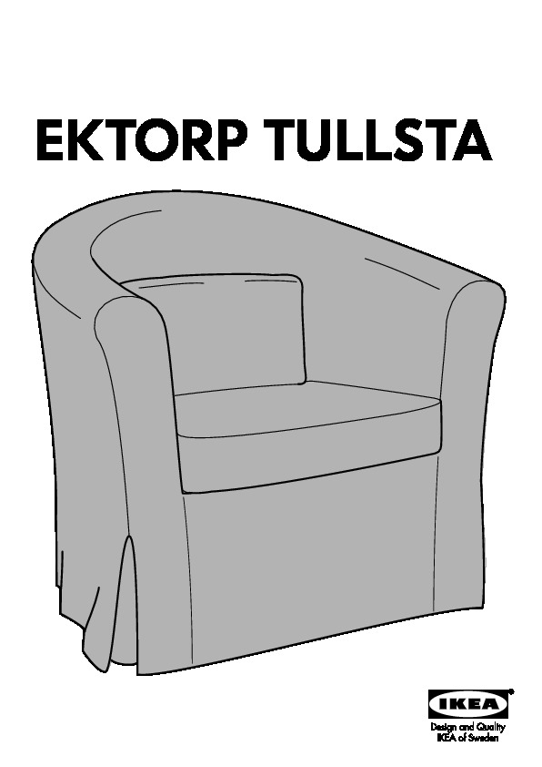 70071720   EKTORP TULLSTA Chair Cover   Assembly Instruction · TULLSTA