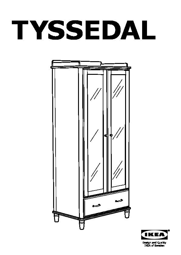 Tyssedal armoire blanc miroir ikea france ikeapedia for Miroir blanc ikea