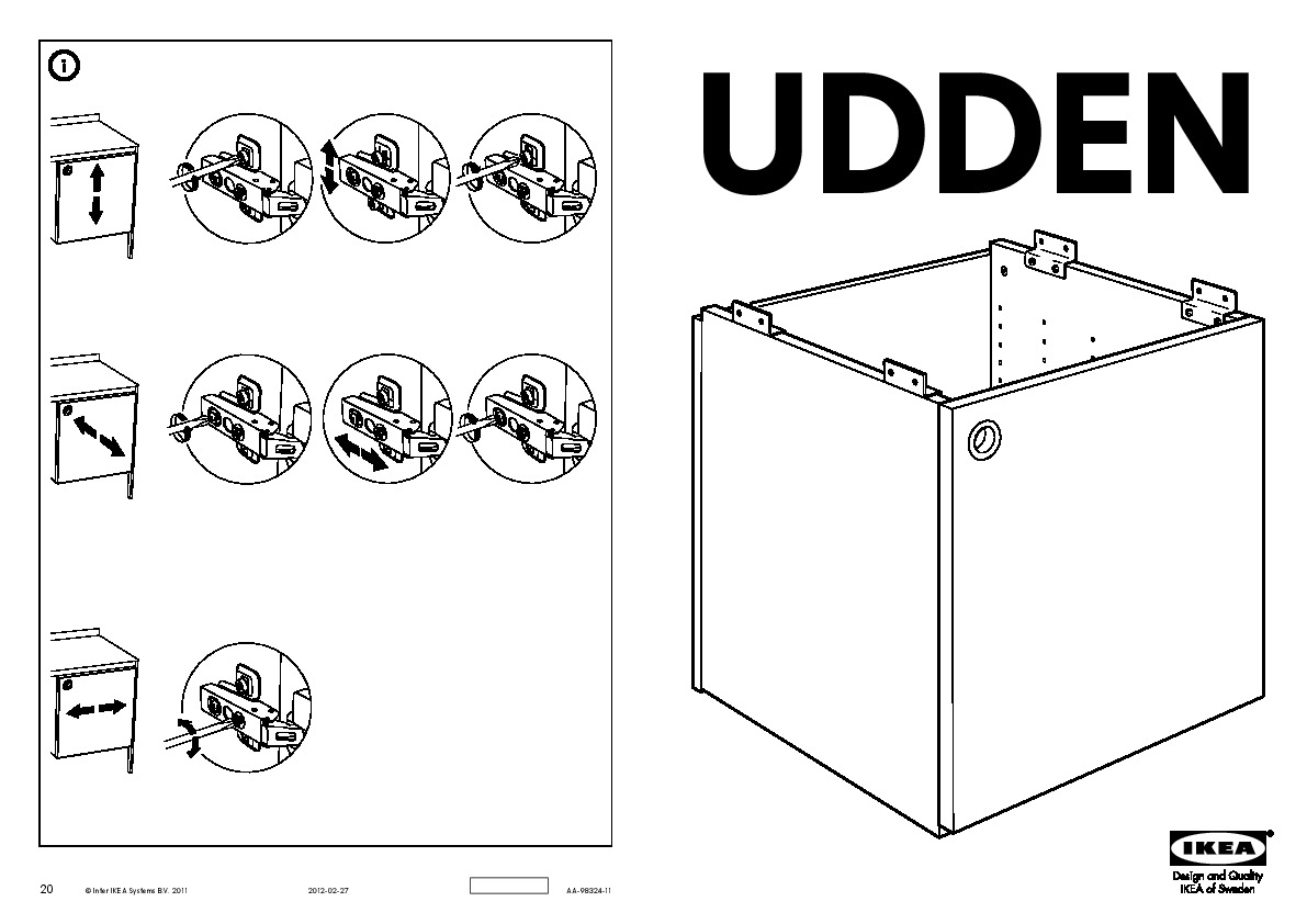udden cabinet with door