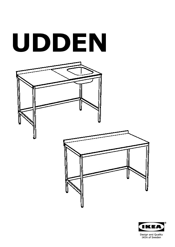 Excellent udden vier bac avec pied with pied de table inox - Pied de table inox ikea ...