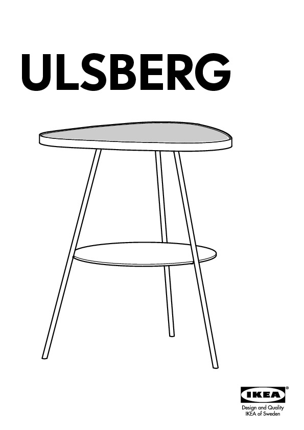 Ulsberg table de chevet blanc verre givr ikea france - Table de chevet blanc ...