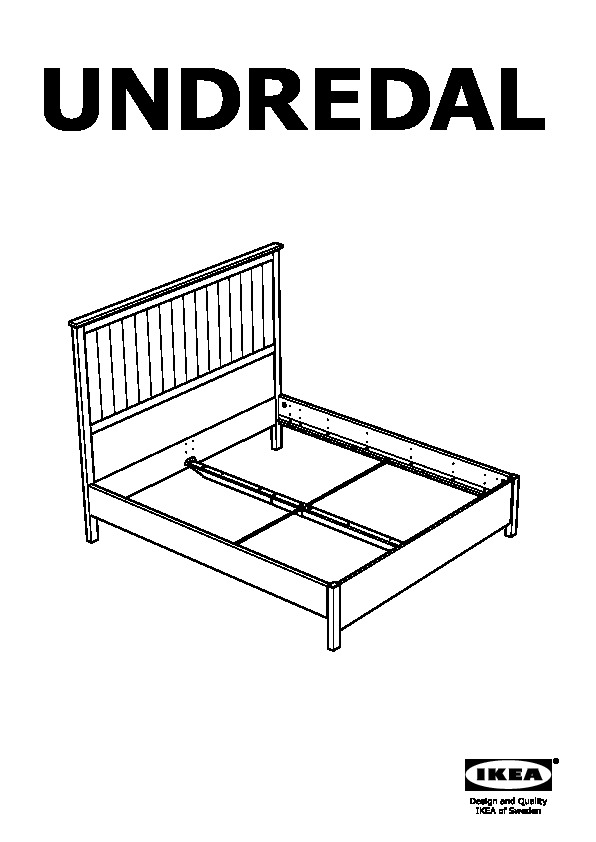 Undredal Bed Frame Black Ikeapedia, Ikea Queen Bed
