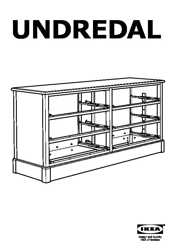 undredal 6 drawer dresser black ikea united states ikeapedia. Black Bedroom Furniture Sets. Home Design Ideas
