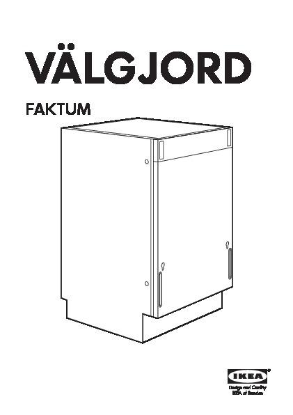 Valgjord Lave Vaisselle Encastrable Ikea France Ikeapedia