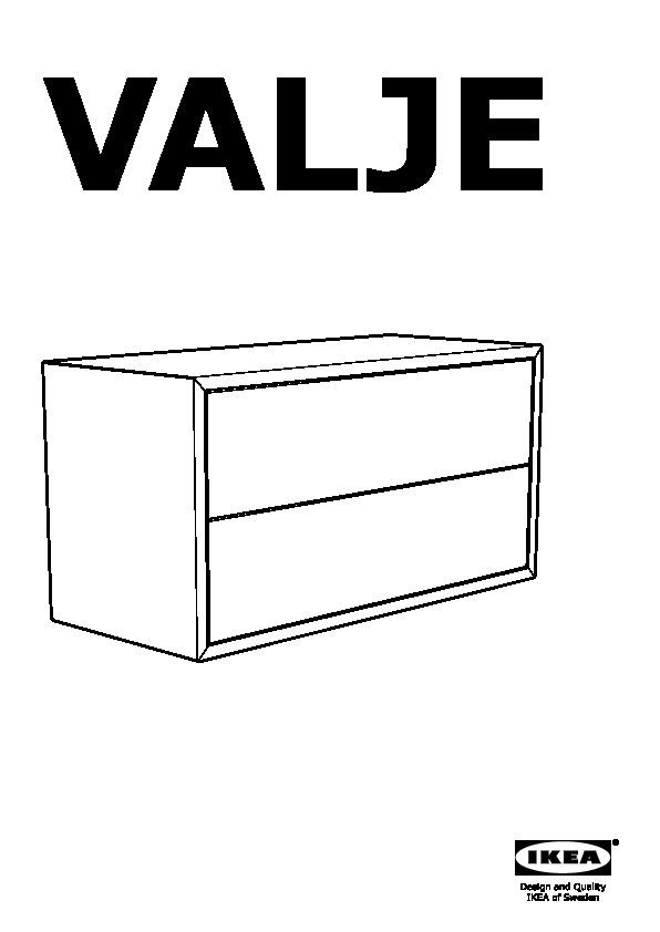 valje l ment mural 2 tiroirs m l ze blanc ikea france ikeapedia. Black Bedroom Furniture Sets. Home Design Ideas