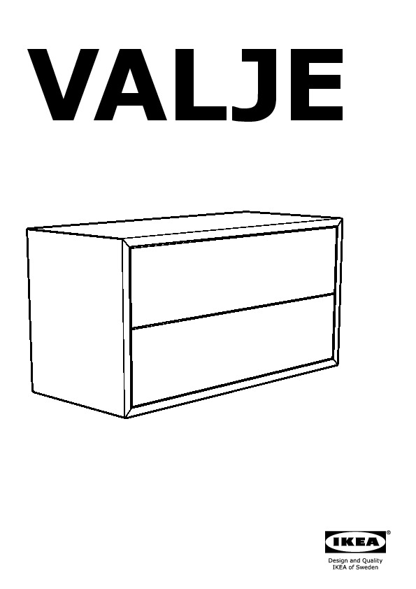 VALJE Wall Cabinet With 2 Drawers