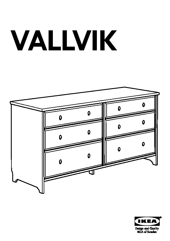 vallvik commode 6 tiroirs blanc ikea france ikeapedia. Black Bedroom Furniture Sets. Home Design Ideas