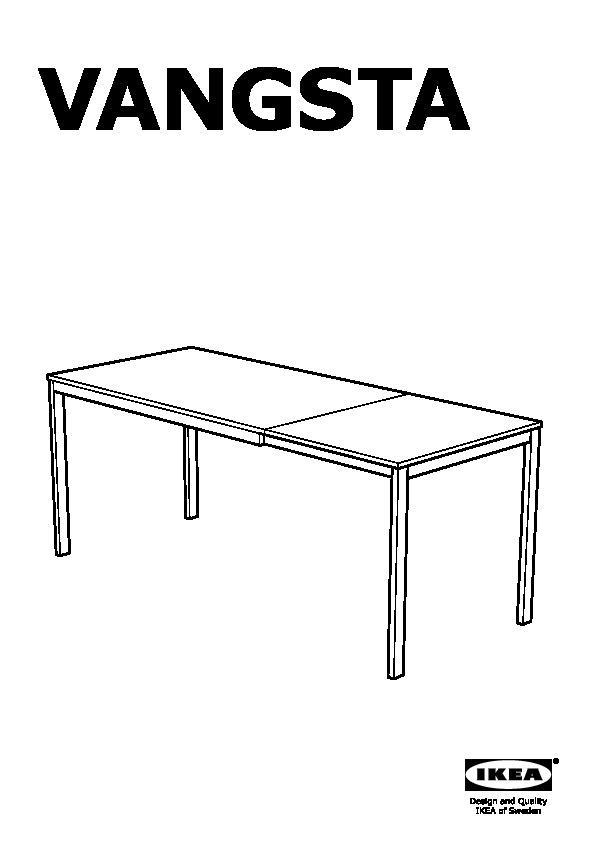Vangsta teodores table and 4 chairs white white ikea - Tavolo ikea vangsta ...