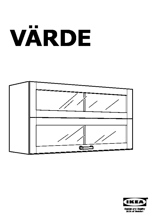 Elegant vrde glassdoor wall cabinet with meuble varde ikea for Meuble mural varde