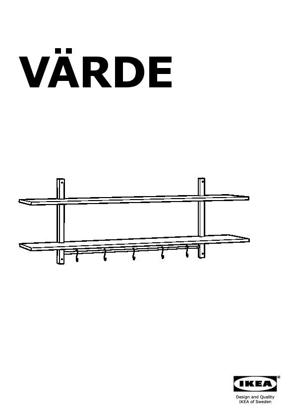 Varde Scaffale Da Parete Con 5 Ganci Betulla Ikea Italy Ikeapedia