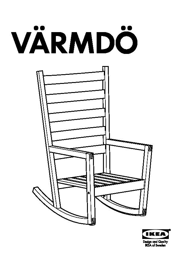 V rmd sedia a dondolo rosso ikea italy ikeapedia - Ikea sedia dondolo ...