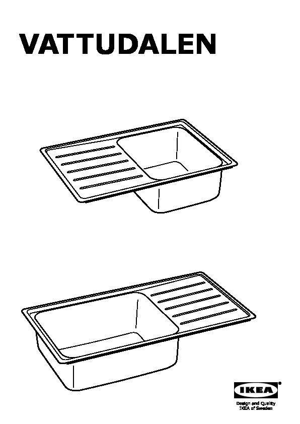 vattudalen vier intgr bac avec gouttoir with ikea evier 1 bac. Black Bedroom Furniture Sets. Home Design Ideas