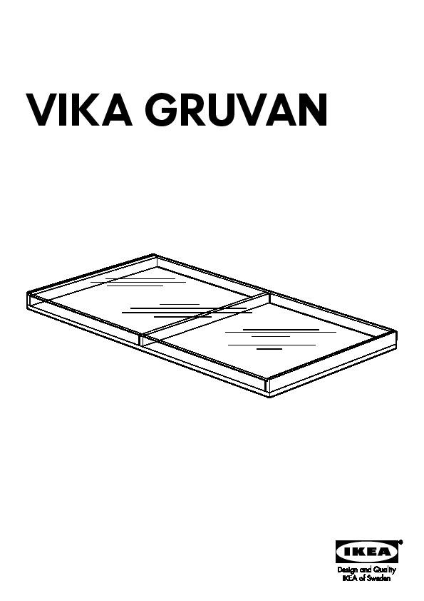 Tinted Glass Cabinet Doors Ikea ~ VIKA GRUVAN plateau  IKEAPEDIA