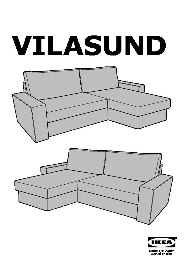 Divano chaise longue ikea casamia idea di immagine - Fodera divano con chaise longue ...