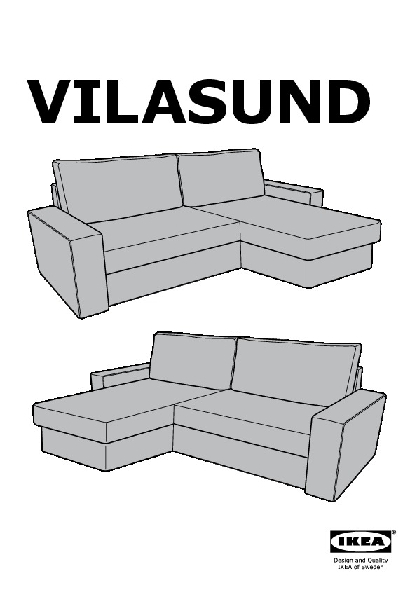 vilasund sofa bed with chaise frame AA 6 pub 0