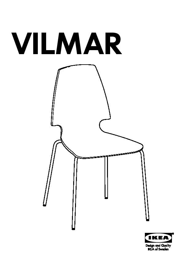 Norden vilmar table et 4 chaises blanc ikea france for Chaise ikea vilmar