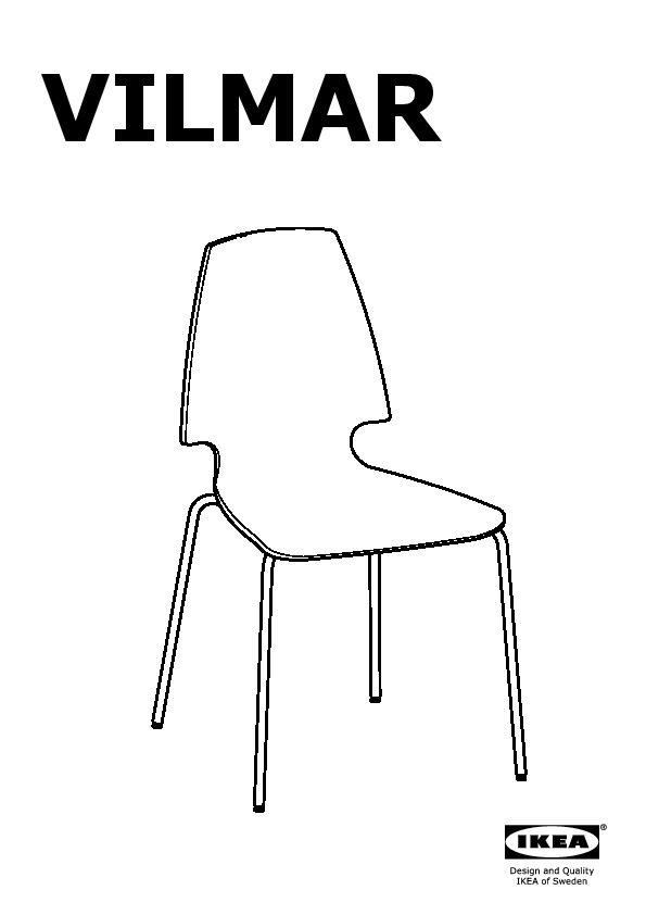Vilmar chaise blanc noir noir blanc chrom ikea france for Chaise ikea vilmar