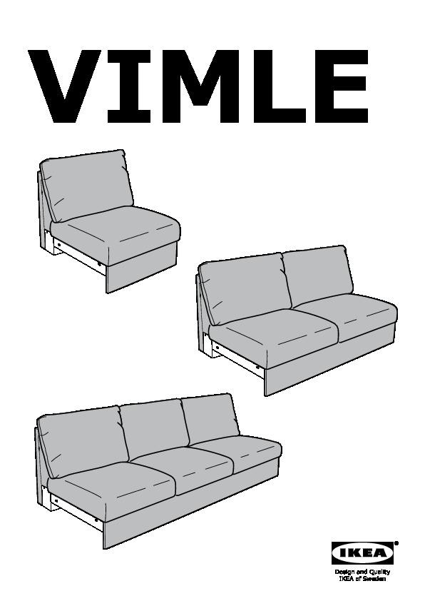 Vimle Module 1 Place Gunnared Gris Moyen Ikea Belgium Ikeapedia