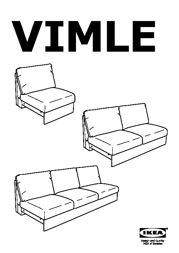 VIMLE loveseat section