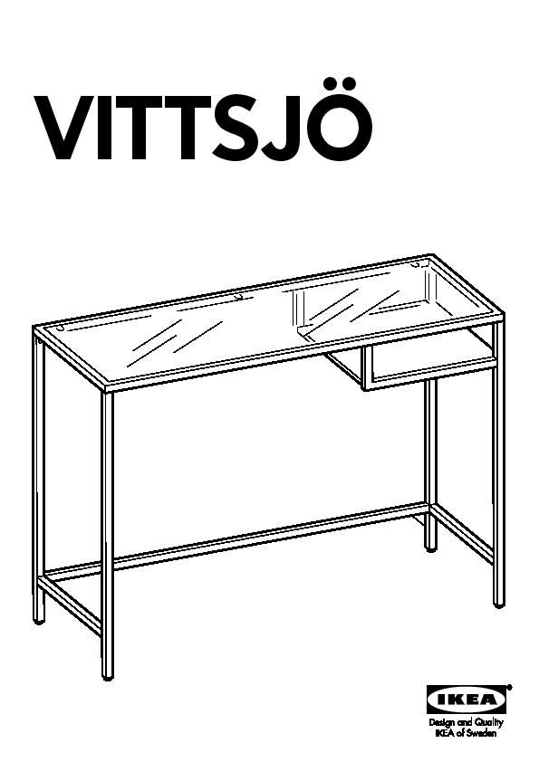 vittsj table ordinateur portable brun noir verre ikea france ikeapedia. Black Bedroom Furniture Sets. Home Design Ideas
