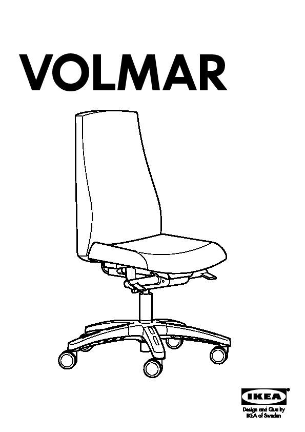 Terrific Volmar Swivel Chair With Headrest Armrests Dark Gray Ikea Andrewgaddart Wooden Chair Designs For Living Room Andrewgaddartcom